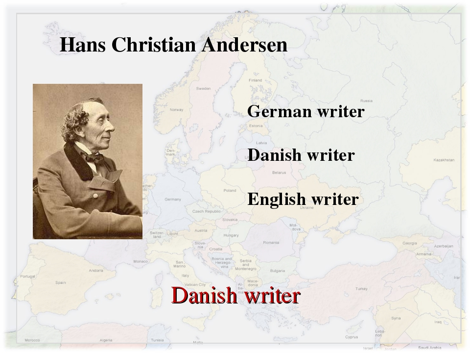 Hans Christian Andersen German writer Danish writer English writer Danish wri...