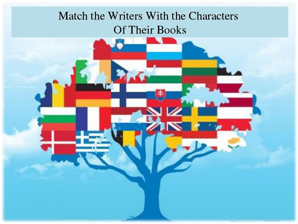 Match the Writers With the Characters Of Their Books