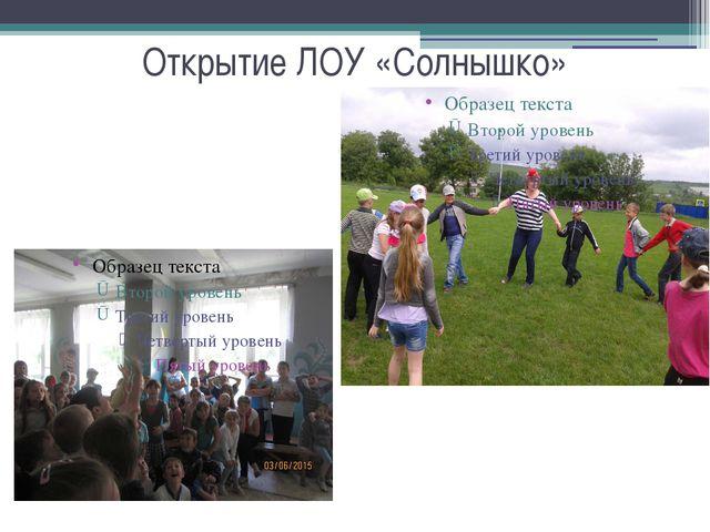 Открытие ЛОУ «Солнышко»