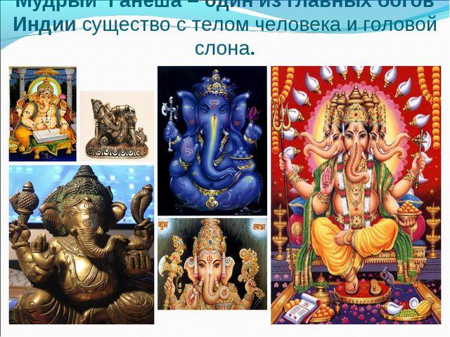 Мудрый Ганеша – один из главных богов Индии существо с телом человека и голов...