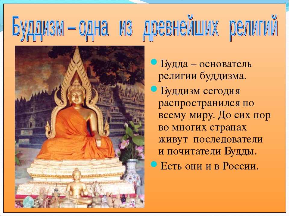 Будда – основатель религии буддизма. Буддизм сегодня распространился по всему...