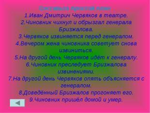 Составьте простой план 1.Иван Дмитрич Червяков в театре. 2.Чиновник чихнул и