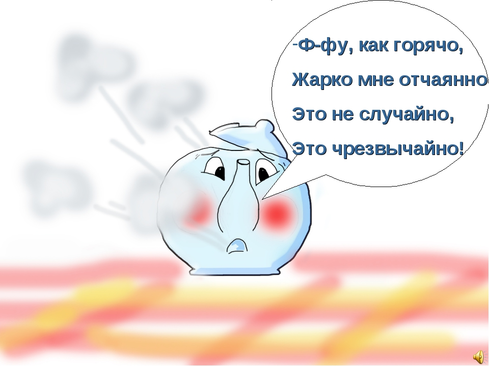 Ф-фу, как горячо, Жарко мне отчаянно, Это не случайно, Это чрезвычайно!