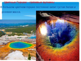 Цветные Горшки – грязевые вулканы В большом цветном горшке постоянно кипит г