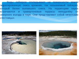Воды гейзеров откладывают на поверхности земли гидратированную окись кремния