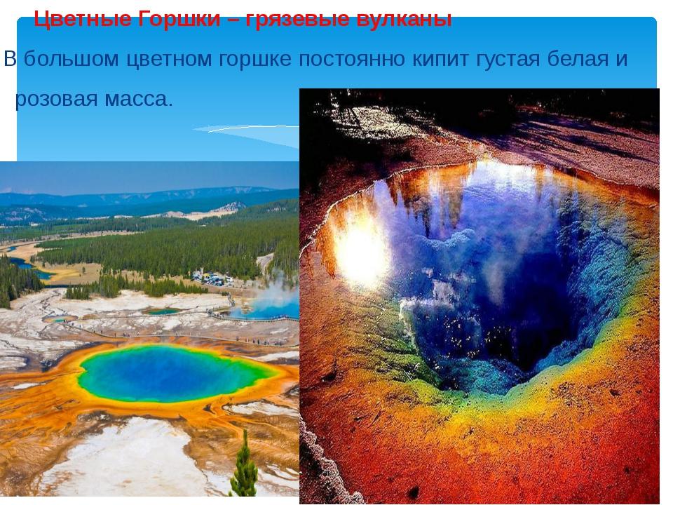 Цветные Горшки – грязевые вулканы В большом цветном горшке постоянно кипит г...