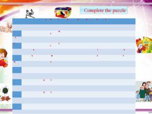 7th Complete the puzzle 1 A C R O B A T 3 M 4 S 5 S 6 7 8 G 10 S F M L 11 V 1