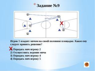 Задание №19 1 3 2 Ваша команда вводит мяч в игру на половине противника. Сопе