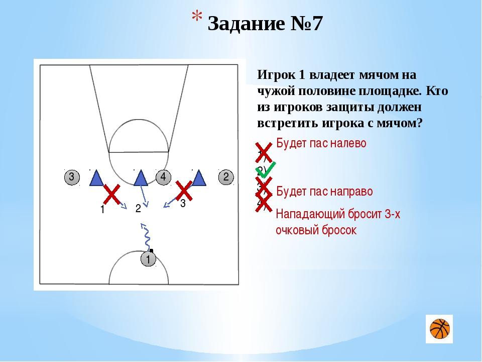 Задание №15 5 1 5 3 1 4 2 2 Игрок 1 владеет мячом на половине противника. Как...