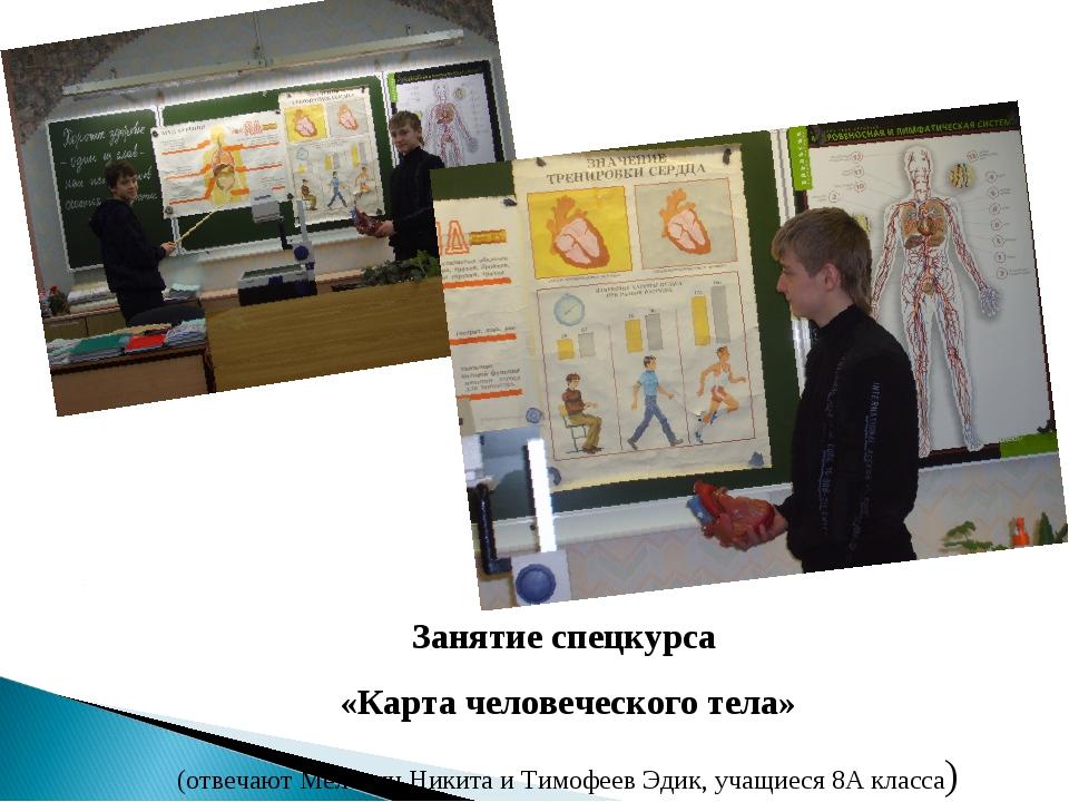 Занятие спецкурса «Карта человеческого тела» (отвечают Мелёхин Никита и Тимоф...