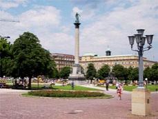 Дворцовая площадь в Штуттгарте