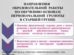 МБДОУ «ДЕТСКИЙ САД № 29 «РЯБИНУШКА» КОМБИНИРОВАННОГО ВИДА» г. Инта Республик