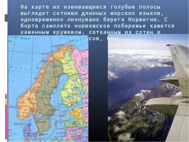 На карте их извивающиеся голубые полосы выглядят сотнями длинных морских язык...