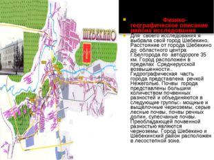 Физико-географическое описание района исследования Для своего исследования