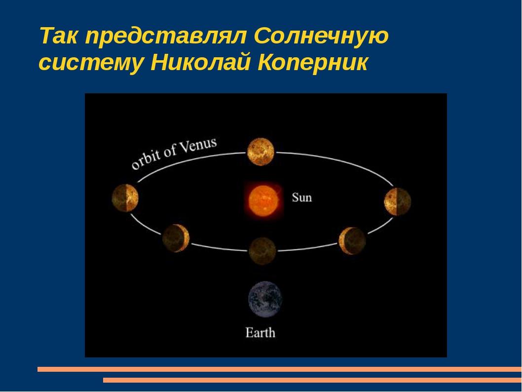 Так представлял Солнечную систему Николай Коперник