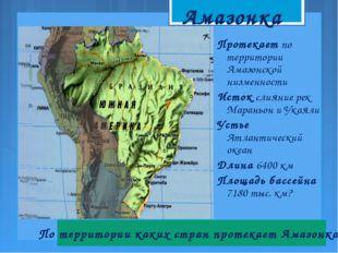 Протекает по территории Амазонской низменности Исток слияние рек Мараньон и У