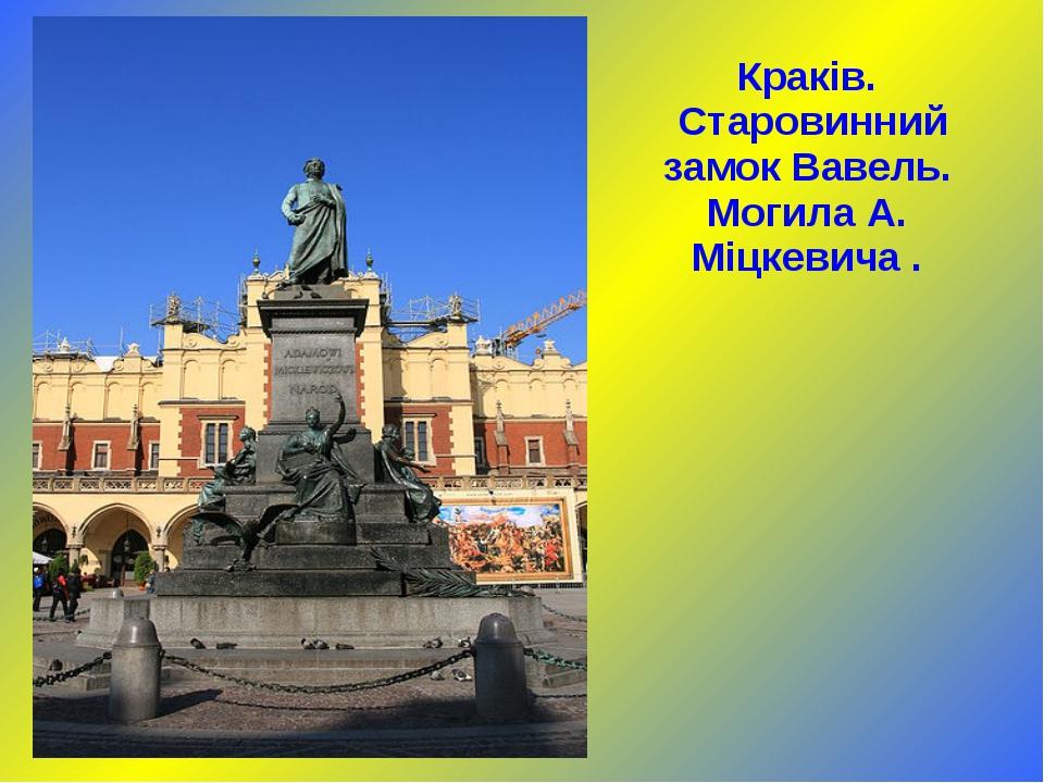 Краків. Старовинний замок Вавель. Могила А. Міцкевича .
