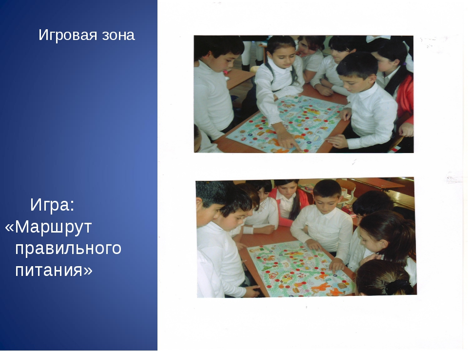 Игра: «Маршрут правильного питания» Игровая зона