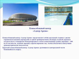 Конькобежный центр «Адлер-Арена» Конькобежный центр «Адлер-Арена» представля