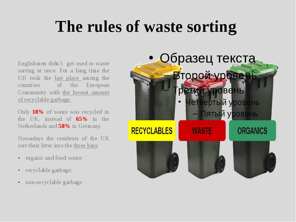 The rules of waste sorting Englishmen didn't get used to waste sorting at onc...