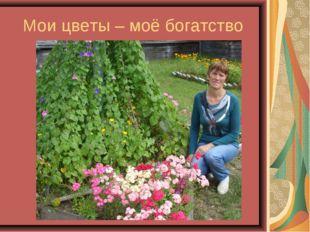 Мои цветы – моё богатство