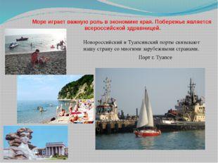 Море играет важную роль в экономике края. Побережье является всероссийской зд