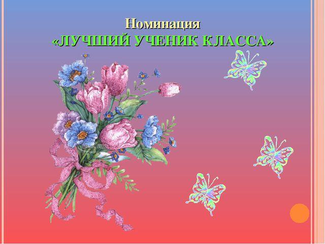 Номинация «ЛУЧШИЙ УЧЕНИК КЛАССА»