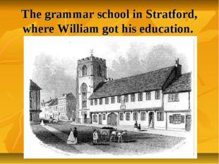 The grammar school in Stratford, where William got his education.