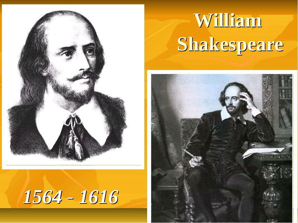 William Shakespeare 1564 - 1616