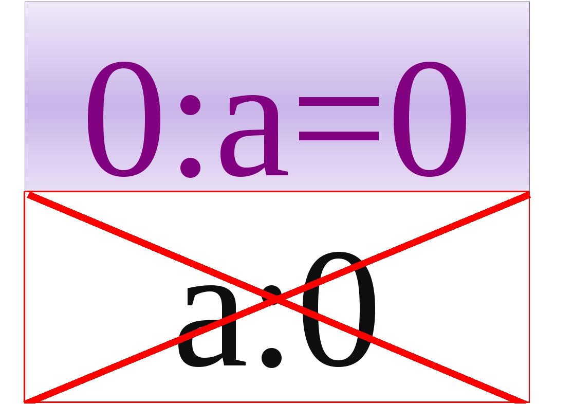 0:а=0 a:0