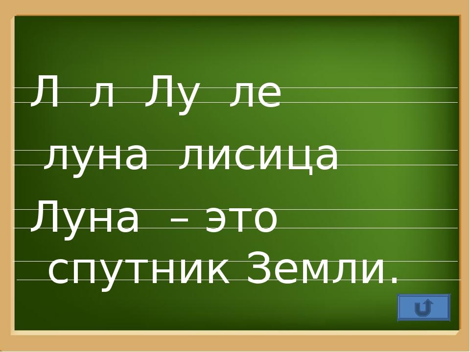 Л л Лу ле луна лисица Луна – это спутник Земли. ProPowerPoint.Ru