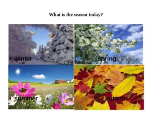 What is the season today? winter spring summer autumn