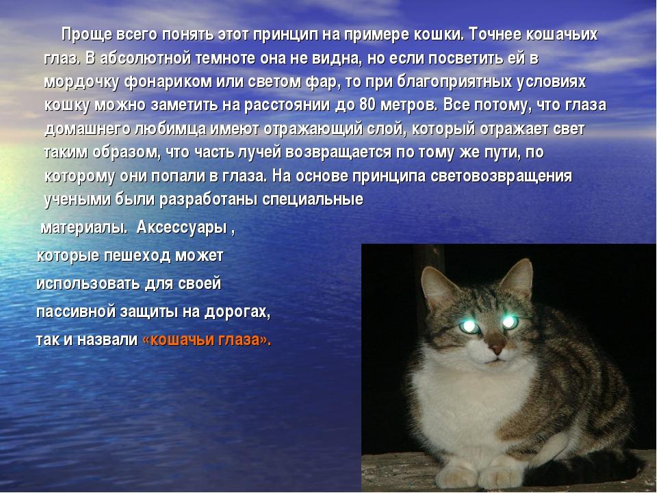 Проще всего понять этот принцип на примере кошки. Точнее кошачьих глаз. В аб...