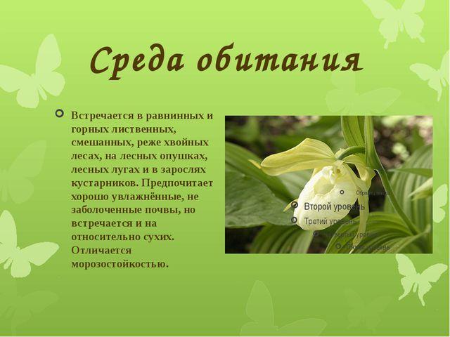 Среда обитания Встречается в равнинных и горных лиственных, смешанных, реже х...