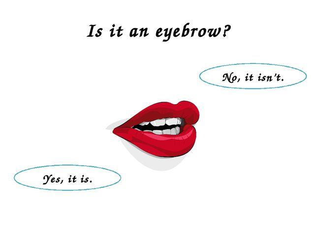 Is it an eyebrow? Yes, it is. No, it isn't.