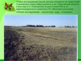 Район исследования (выше центра) находится на территории Осиновского округа М