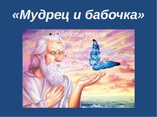 «Мудрец и бабочка»