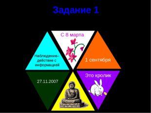 Задание 1 Определите какая информация представлена в треугольниках Наблюдение
