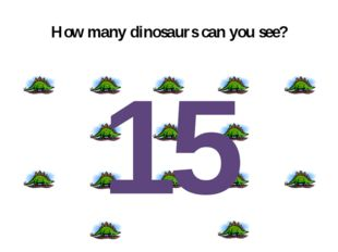 How many dinosaurs can you see? 15