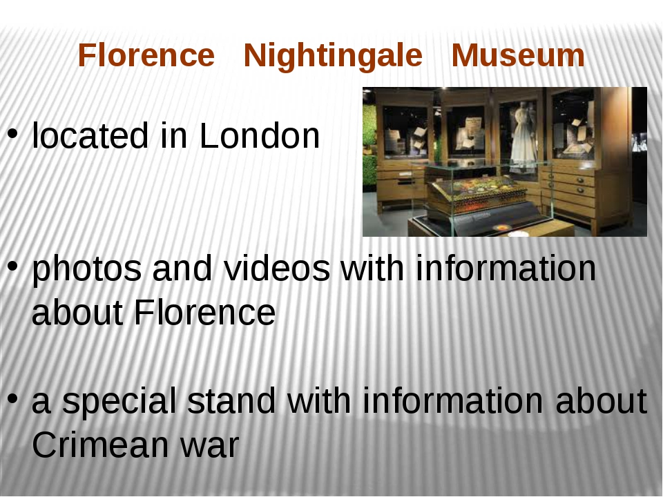 Florence Nightingale Museum located in London photos and videos with informat...