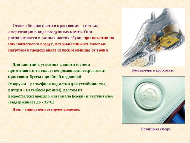 Основа безопасности в кроссовках – система амортизации в виде воздушных каме...
