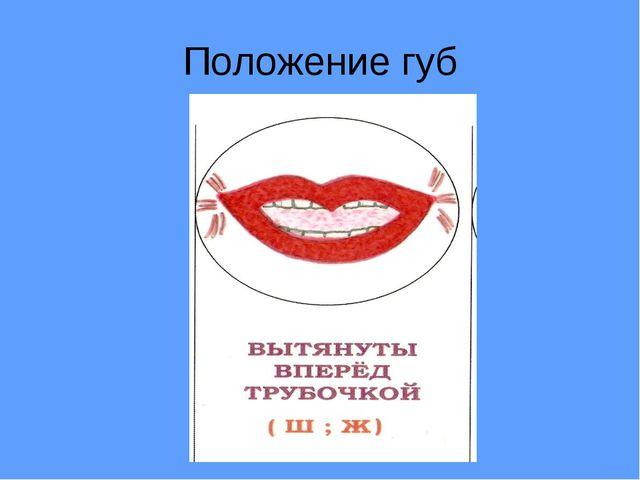 Положение губ