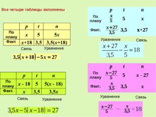 Связь Уравнение Связь Уравнение Связь Уравнение Связь Уравнение Все четыре т