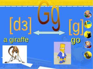 a giraffe go