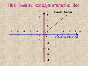Дәптерлерінде бірлік кесіндісін 1 тор көзге тең қылып алып, координаталар жүй
