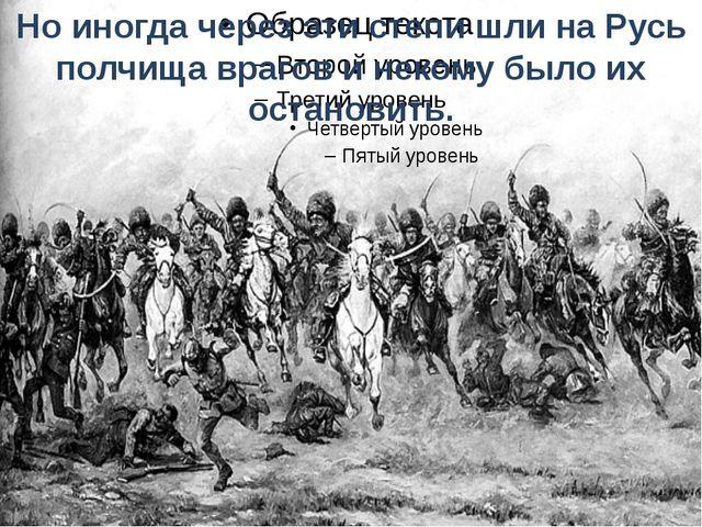 Но иногда через эти степи шли на Русь полчища врагов и некому было их останов...