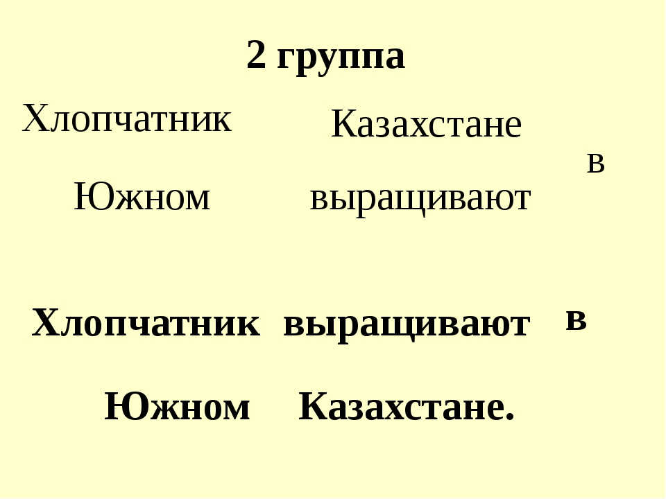 2 группа Хлопчатник выращивают в Южном Казахстане Хлопчатник выращивают в Южн...