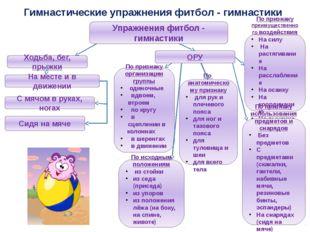 Гимнастические упражнения фитбол - гимнастики Упражнения фитбол - гимнастики