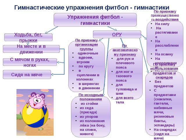 Гимнастические упражнения фитбол - гимнастики Упражнения фитбол - гимнастики...