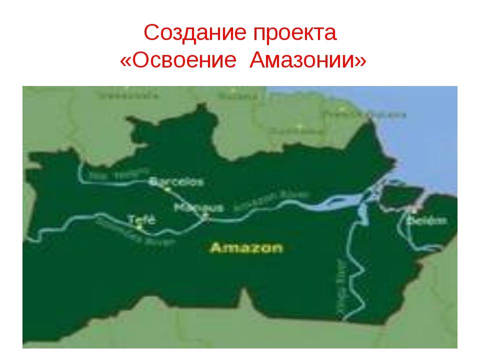 Создание проекта «Освоение Амазонии»